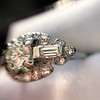 1.18ctw Art Deco Princess Halo Ring 30