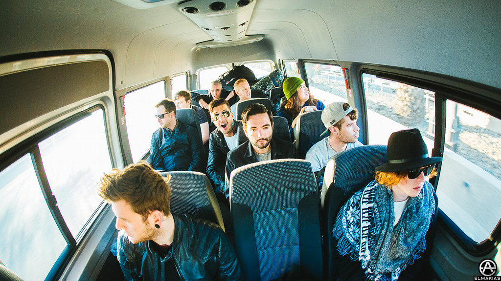 Morning van rides with Of Mice & Men and A Day To Remember to the airport.