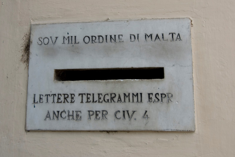 Old mailbox spotted in Rome, Italy