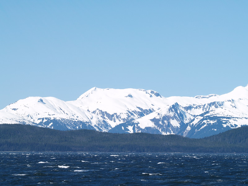 Rough seas - looking across Favorite Channel to North Shelter Island and the Chilkoot Range