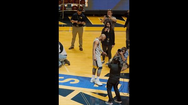 Senior Carter and Miles WVU Basketball players