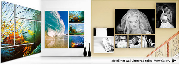 Metal Print Arrangements