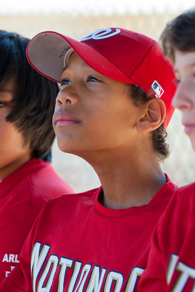 Jack on the bench before the game. The Nationals struggled on both offense and defense in a 2-11 loss to the Orioles. They are now 7-4 for the season. 2012 Arlington Little League Baseball, Majors Division. Nationals vs Orioles (19 May 2012) (Image taken by Patrick R. Kane on 19 May 2012 with Canon EOS-1D Mark III at ISO 400, f4.0, 1/320 sec and 192mm)
