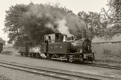 The Countess GW#823 shunts at Cyfronydd Station 3 BW