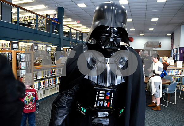12/16/2017 Mike Orazzi | Staff Granite State Saber Academy's Mark Robertson during a Star Wars event at the Southington Public Library Saturday afternoon.