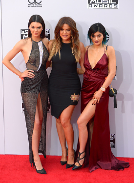 . Kendall Jenner, Khloe Kardashian and Kylie Jenner arrives on the red carpet at the 2014 American Music Awards  at the Nokia Theatre in Los Angeles, California on Sunday November 23, 2014. (Photo by David Crane / Los Angeles Daily News)