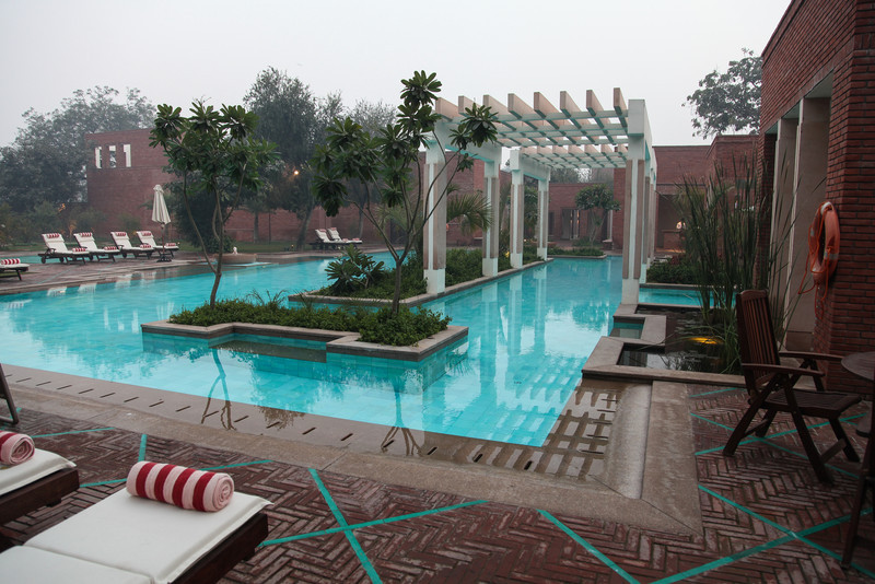 The pool at the hotel spa.