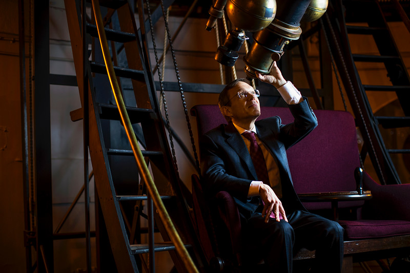 Avi Loeb, physicist at Harvard University, poses for a portrait in the observatory near his office in Cambridge, MA on January 29, 2019. For The Washington Post)