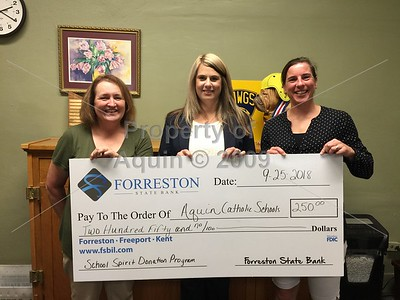 forreston state bank donation check for new accounts . 9.25.18