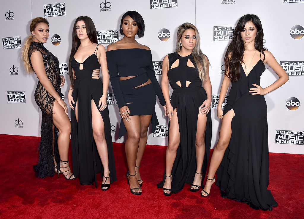 . Dinah Jane, from left, Lauren Jauregui, Normani Kordei, Ally Brooke, and Camila Cabello, of Fifth Harmony, arrive at the American Music Awards at the Microsoft Theater on Sunday, Nov. 20, 2016, in Los Angeles. (Photo by Jordan Strauss/Invision/AP)
