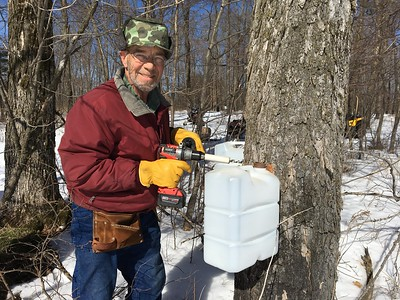 MAPLE SYRUP TAPPED 3/17/18- APRIL 18TH, 2018