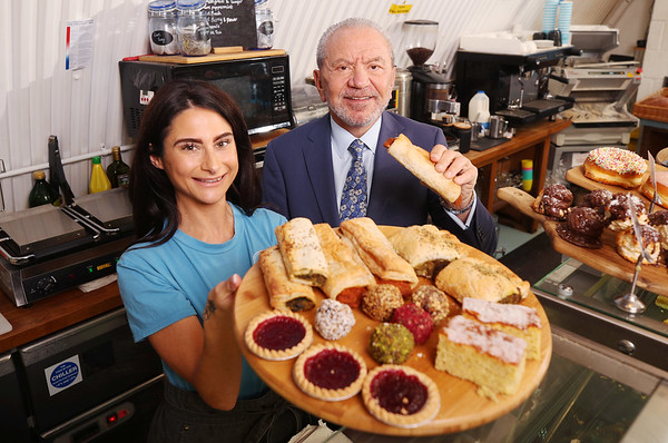 2/3/20 Lord Sugar launches vegan range at Dough Bakehouse