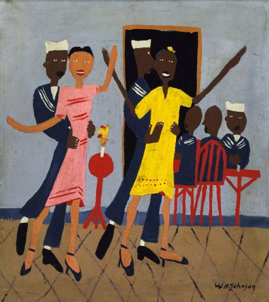 "William H. Johnson, ""Sailors' Dance Hall"" (1942-44)"