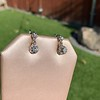 .69ctw Vintage Diamond Double Drop Earrings, French 5
