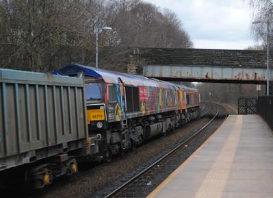 66750 Bristol Panel Signal Box +66718 Sir Peter Hendy CBE 4E10 Tuebrook Sdgs - Doncaster Roberts Rd,