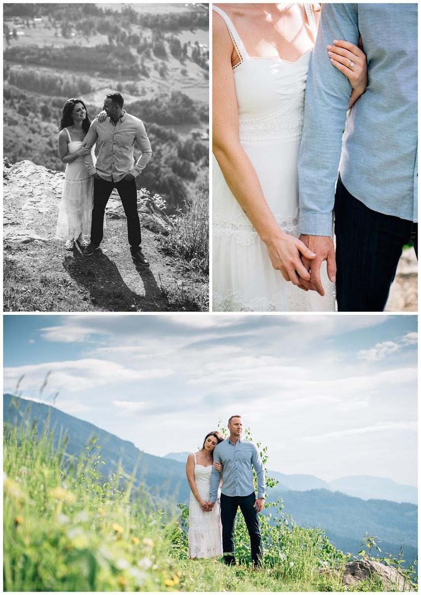 mountaintop engagement photos