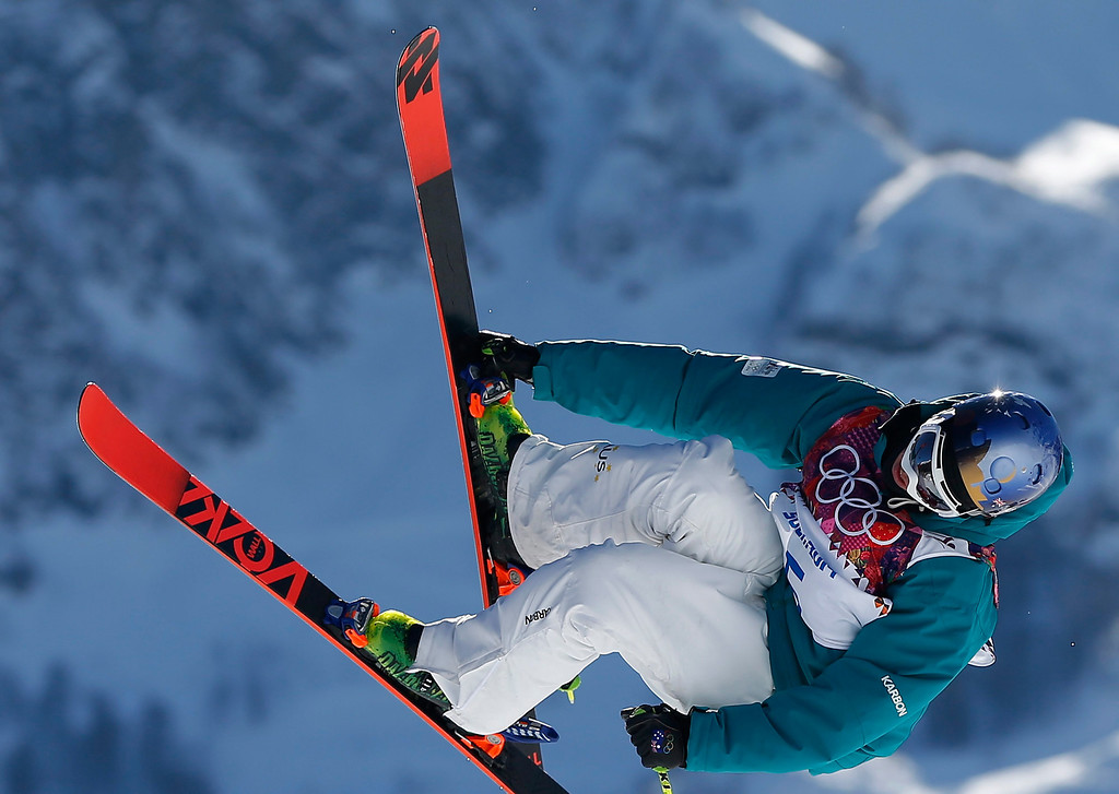 . Russell Henshaw of Australia in action  during the Men\'s Freestyle Skiing Slopestyle Qualification in the Rosa Khutor Extreme Park at the Sochi 2014 Olympic Games, Krasnaya Polyana, Russia, 13 February 2014.  EPA/VALDRIN XHEMAJ