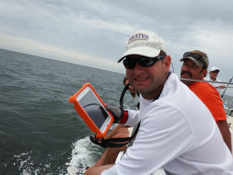 7/19 Jon navigating by iPad.
