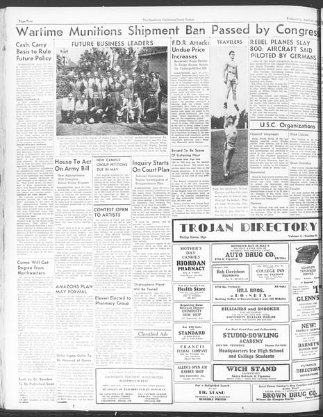 Daily Trojan, Vol. 28, No. 125, April 28, 1937