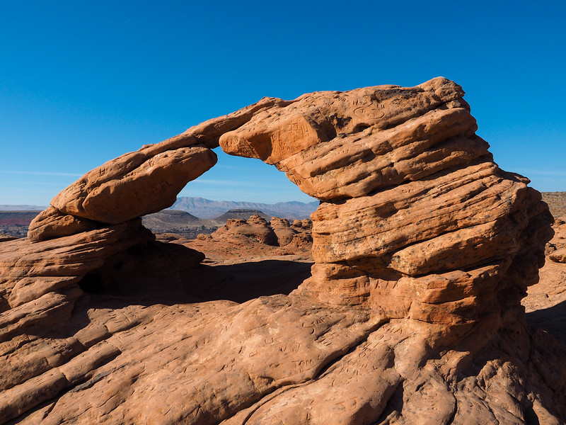 Arch at Pioneer Park in St. George, Utah