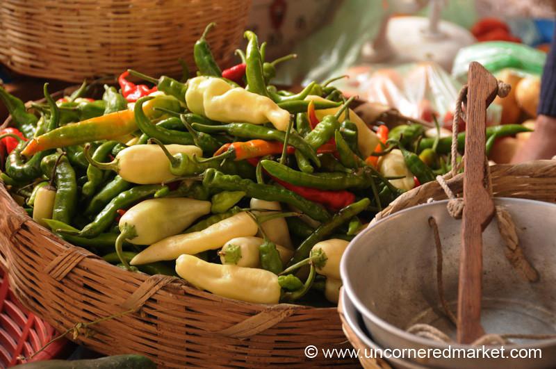 Tri-Colored Peppers - Xela, Guatemala