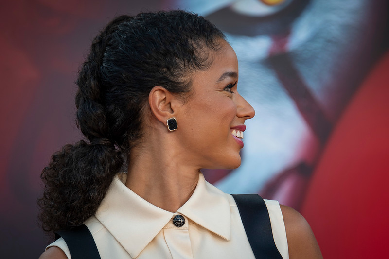 """WESTWOOD, CA - AUGUST 26: Alisha Wainwright attends the Premiere Of Warner Bros. Pictures' """"It Chapter Two"""" at Regency Village Theatre on Monday, August 26, 2019 in Westwood, California. (Photo by Tom Sorensen/Moovieboy Pictures)"""