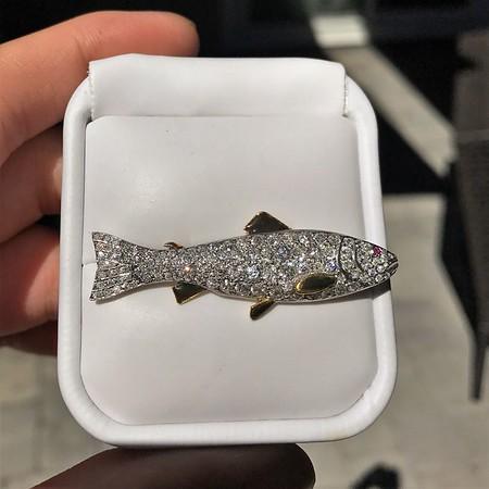 3.00ctw Art Deco Diamond Fish Brooch