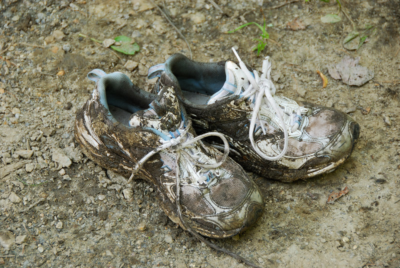 Stephanies shoes after Spruce Hill hike   (Jul 03, 2006, 12:43pm)