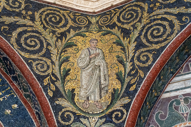Mosaic in the Neonian Baptistry in Ravenna