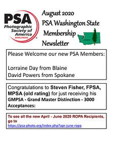 2020 Aug PSA Newsletter