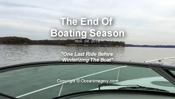 20141104 Belmont Bay, VA. - Last Day Of Boating Season