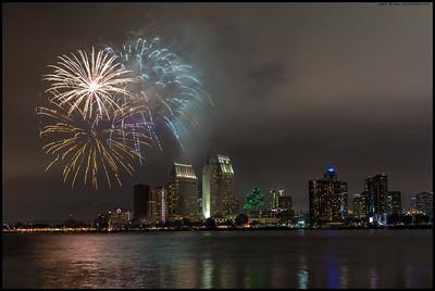 San Diego Fireworks  2017