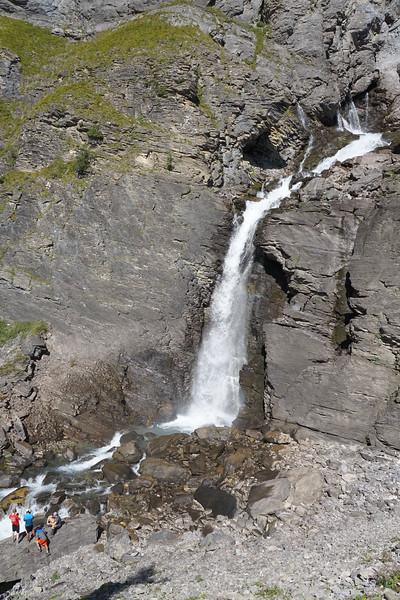 The falls at Lac Tseuzier