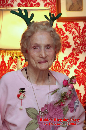 Granny Rubie's Birthday Party