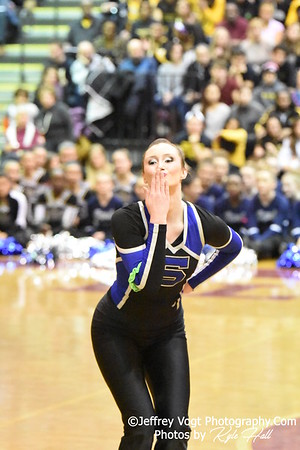 2-13-2016 Sherwood HS Varsity Poms at Blair HS MCPS Championship, Photos by Jeffrey Vogt Photography with Kyle Hall