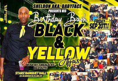 "SHELDON aka BABYFACE ""BLACK & YELLOW""(0)"