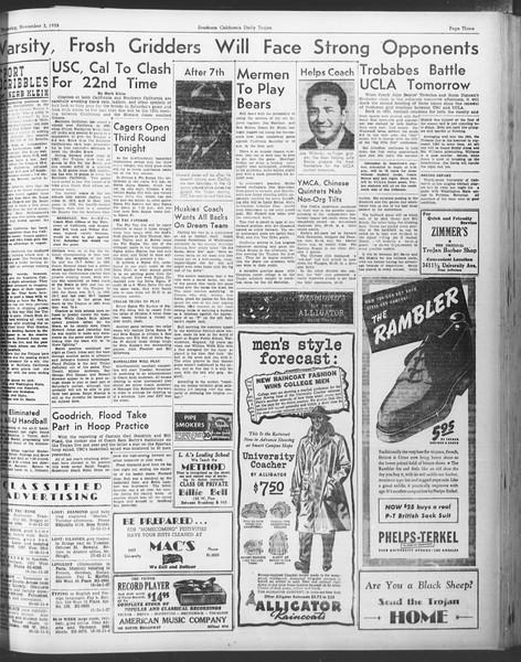 Daily Trojan, Vol. 30, No. 34, November 03, 1938