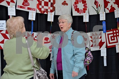 3/22/13 32nd Annual Azalea & Spring Flower Trail Quilt Show - Red & White Renaissance by Gloria Swift