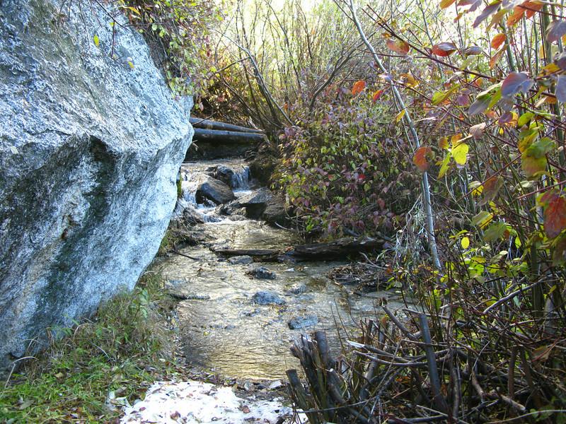 wet trail crossing