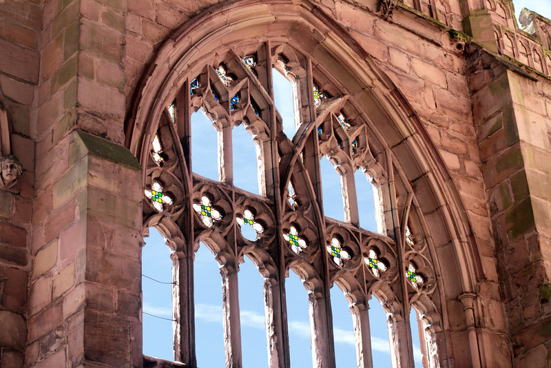 part of the bombed old Coventry Cathedral