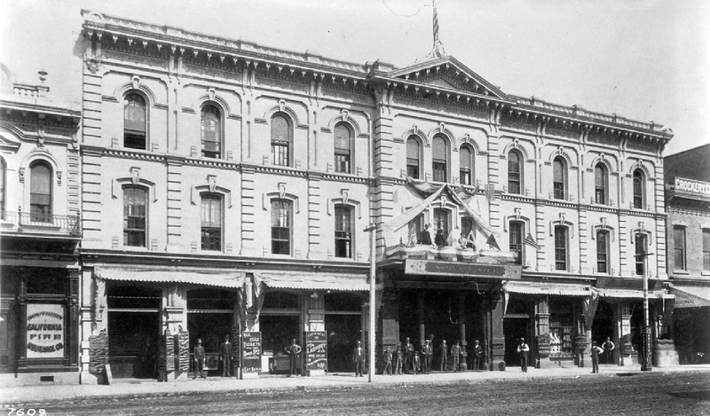 Exterior of the Saint Elmo Hotel, ca.1890
