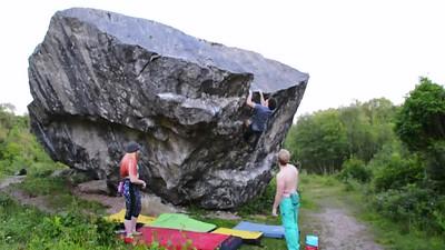 Trowbarrow boulderer's