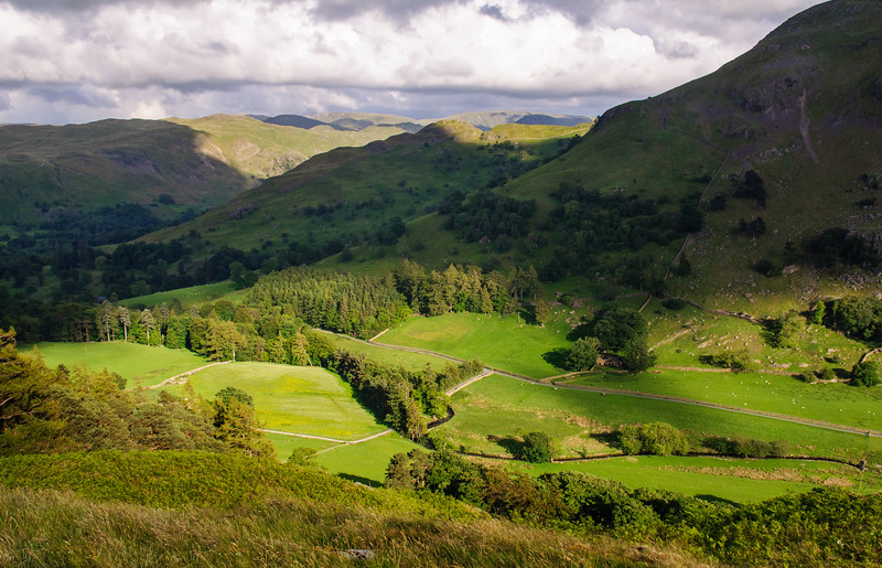 Grisedale valley in the Lake District