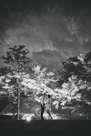 Teresa & Jacob B/W Engagement Photos