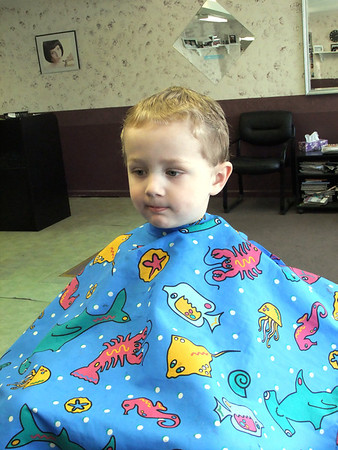 Jake's Potsdam Haircut -- April 2012