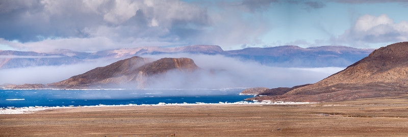 Clouds surround Skraeling, Alexandra Fjord