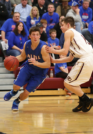 Albia vs Pella Christian Boys Basketball 02192015