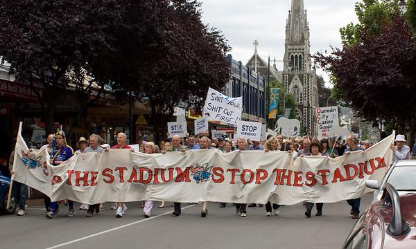 """Stop the Stadium"" protest"