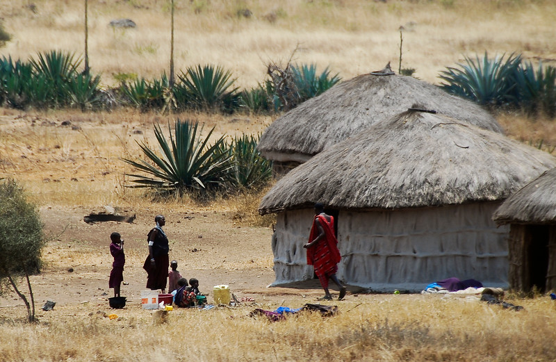 Masai family, Tanzania