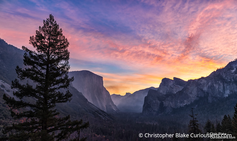 Tunnel View Sunrise and Smoke